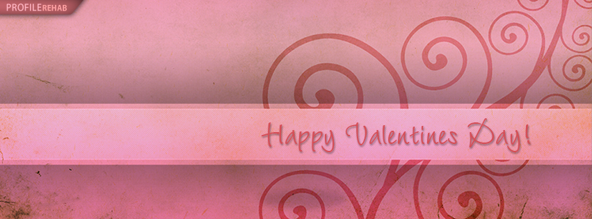 Pink Swirly Happy Valentine Day Cover for Facebook - Happy Valentines Day Banner
