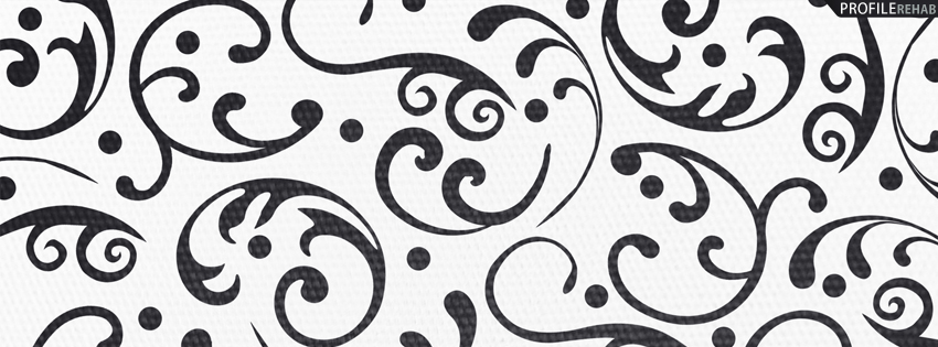 Black and White Vintage Pattern Cover for Facebook Timeline