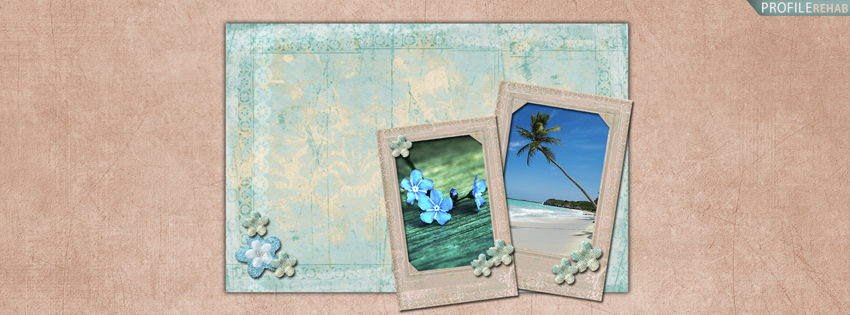 Pink & Blue Vintage Facebook Cover for Timeline
