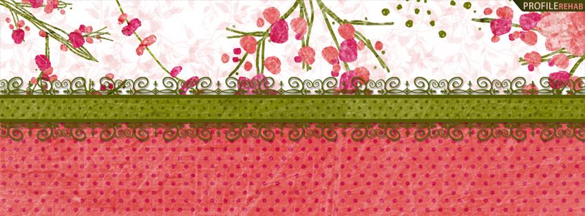 Green & Pink Vintage Polkadot Facebook Cover
