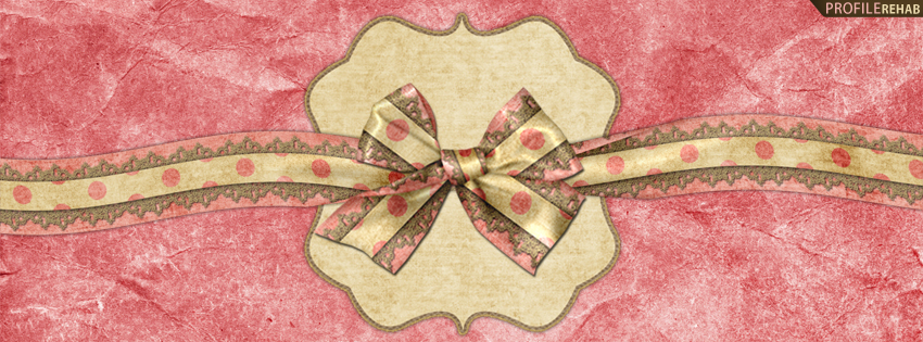 Pink Vintage Bow Facebook Cover
