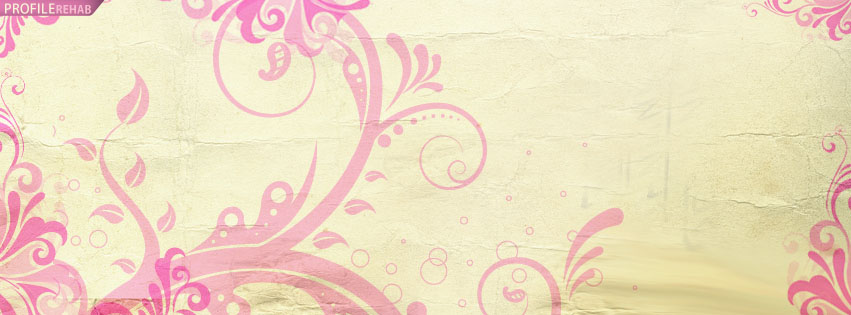 Pink Vintage Facebook Cover