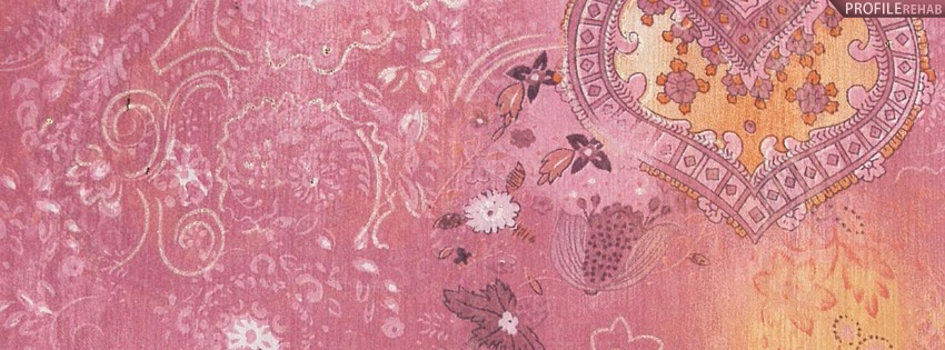 Pink Vintage Pattern Facebook Cover