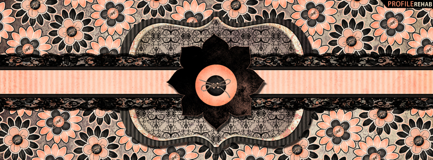Pink & Black Vintage Facebook Cover