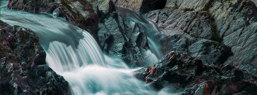 Black Rock Waterfall with Lava Facebook Cover