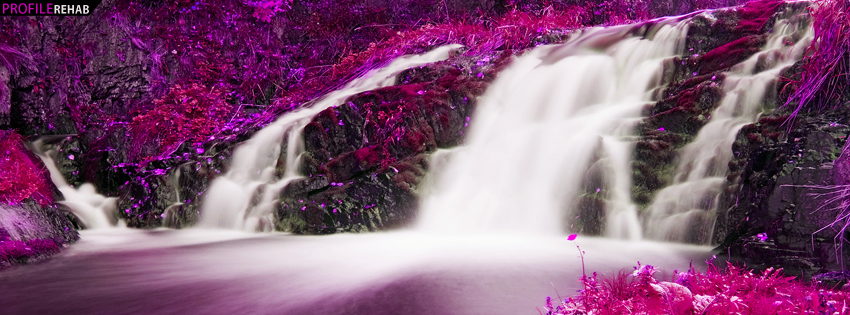 Pink Waterfall Facebook Cover