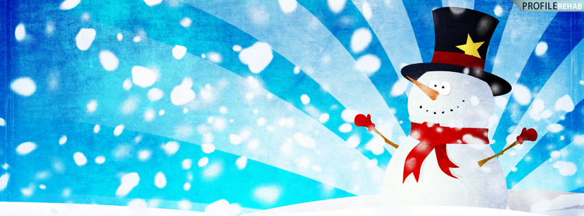 Blue Snowman Facebook Cover for Timeline