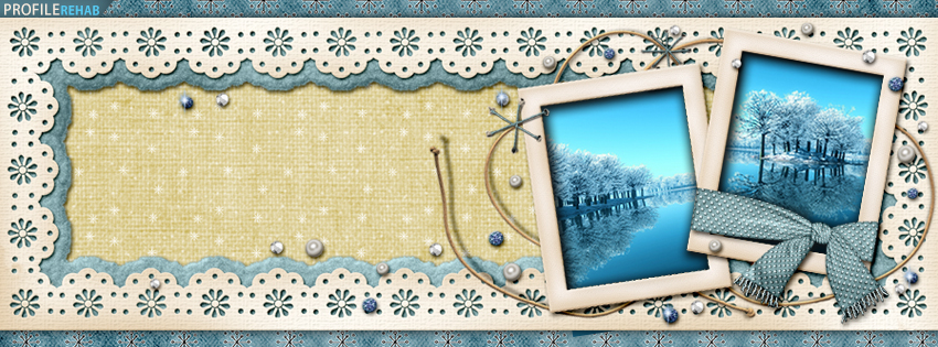 Blue Vintage Winter Facebook Cover