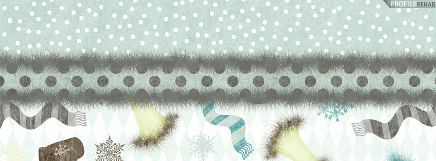 Blue Polkadots Winter Facebook Cover for Timeline