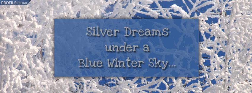 Winter Quote Facebook Cover