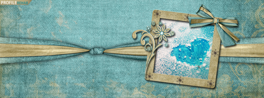 Cute Snow Heart Facebook Cover - Winter Heart Pic