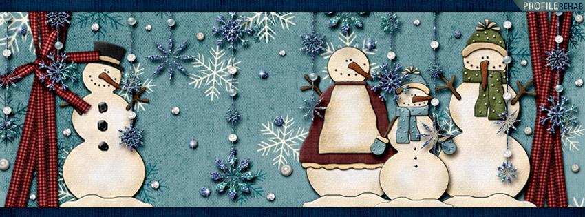 Cute Snowman Pictures Free -  Snowman Pic - Scrapbook Style Snowman Facebook Cover