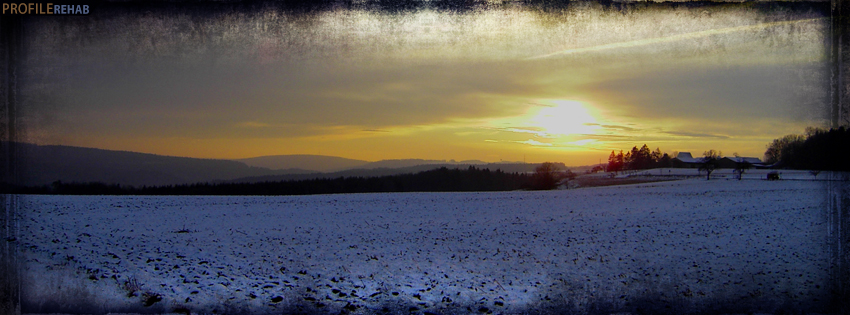 Grunge Winter Sunrise Facebook Cover