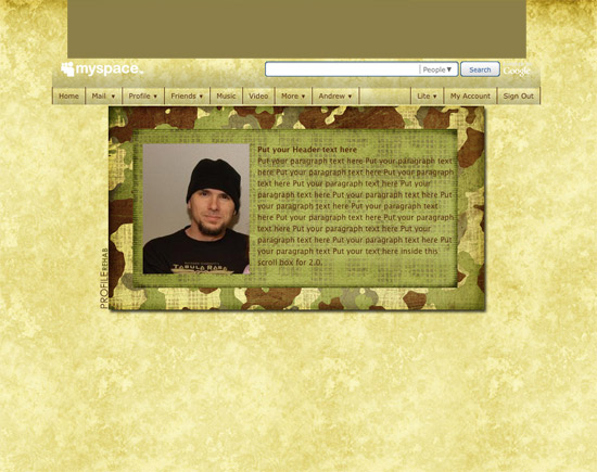 Military movie myspace layouts