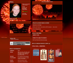 4th of July Myspace Layout - Independence Day Layout - Fireworks Theme