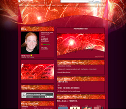 4th of July Myspace Design - Independence Day Theme - Fireworks Layout