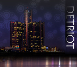 Detroit Skyline Myspace Layout - Detroit Skyline Background