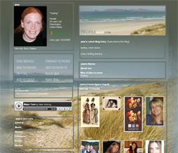 Ireland Beach Myspace Layout - Sandy Beach Theme - Ocean Background