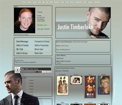 Justin Timberlake Myspace Layout - JT Theme - Justin Background