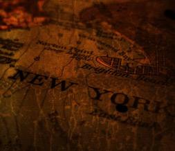 New York Map Layout - Vintage Map Myspace Background