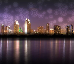 San Diego Skyline Layout - California City Skyline Background