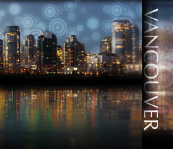 Vancouver Skyline Myspace Layout - Canada Skyline Theme Background