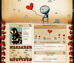 Artistic Hearts Layout - Artistic Love Myspace Layout - Artistic Theme
