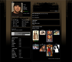 Black & Brown Myspace Layout - Abstract Theme Preview