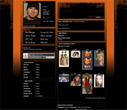 Black & Orange Myspace Layout - Abstract Halloween Theme Preview