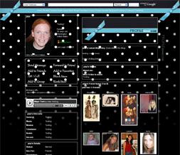 Black & White Polka Dot Layout - Blue Polkadot Myspace Background