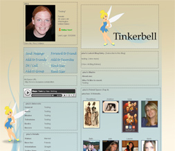 Blue Tinkerbell Background for Myspace - Disney Myspace Theme