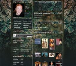 Blue Vintage Myspace Layout-Blue Flowery Vintage Theme-Vintage Background