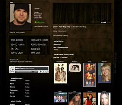 Brown & Black Myspace Layout - Brown & Black Myspace Theme Preview