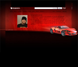 Red Sports Car Hide Everything Layout - Red Car No Scroll Layout
