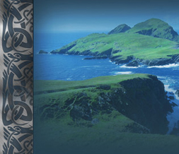 Celtic Knot Myspace Layout - Puffin Island Background - Ocean Theme