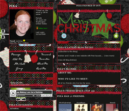 Christmas Ornaments Myspace Layout - Xmas Ornaments Layout