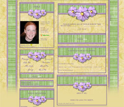 Purple & Green Easter Layout  - Pretty Spring Myspace Theme - Cute Flower Design