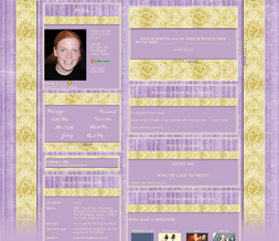Purple & Gold Myspace Layout - Easter Colors Theme - Gold Spring Design