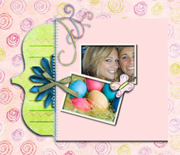 Pink Easter Layout - Pink & Green Easter Myspace Theme