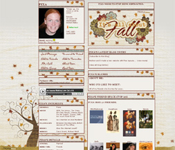Autumn Leaves Myspace Layout - Fall Layout - Autumn Tree Theme Preview