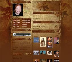 Fall Colors Vintage Myspace Layout - Fall Leaves Vintage Design