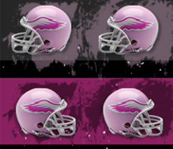 Cute Pink Helmet Twitter Background-Girly Football Helmet Background