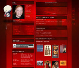 Red Love Layout - Red Quote Layout - Artistic Love Myspace Layout