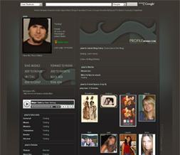 Blue & Gray Myspace Layout - Grey & Blue Myspace Background