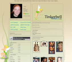 Tinkerbell Myspace Layout - Disney Theme - Tinkerbell Layout