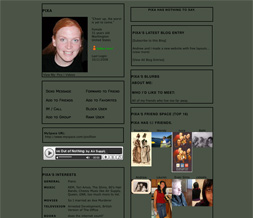 Plain Sage Green Skinny Layout - Skinny Green Myspace Layout - Skinny Green Theme