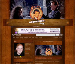 Groundhog Day Layout - Groundhog Day Movie Myspace Theme