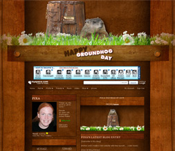 Groundhog Day Layout - Groundhog Myspace Theme