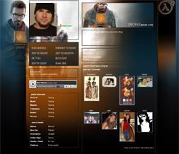 Free Halflife 2 Myspace Layout - Cool Game Background - New Halflife Gaming Theme