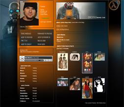 Cool Halflife 2 Myspace Layout - New Gaming Background - Best Halflife Layout